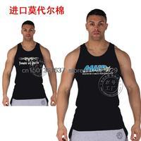 Free shipping Aerobics training base models ferret word hurdles muscle sportsman vest cotton sweat