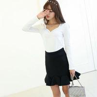 free shipping 2015 cheap Korean casual long sleeve t shirts cotton backing shirt women tops clothing camisetas femininas clothes