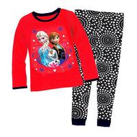 2014 New Design Queen Pajamas Girls  Pijamas Baby Elsa's Anna's Pyjamas Children's Clothing sets Kids Printed Sleepwears