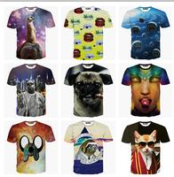 2015 Europe and America Hot 3d t shirt men/boy casual tshirt short sleeve summer tee print tshirts 21models free ship