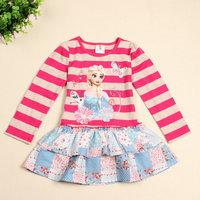 2014 New Design Elsa Princess Dresses Baby Girls  dress Kids Party dress Baby  Printed dresses Children Clothing