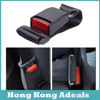 Car Vehicle Seat Belt Extension Extender Strap Safety Buckle Black