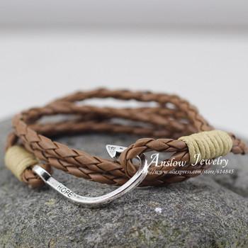 Low0088lb мода ювелирный завод питания резинками шарм кожаный браслет женщин браслеты ...