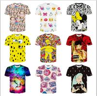 Newest style 3d tshirt women/men Hot sell print tshirts short sleeve casual T-shirt cartoon/animal 21models free ship