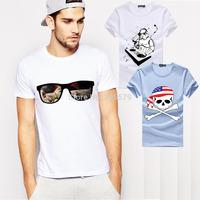 Star Wars T Shirts Men DJ Yoda T-Shirt Cotton O Neck Eye Glasses Rainbow Man tshirt Tops Euro Size Free Shipping Tee Shirt