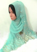tc325 new 2015 silk chiffon muslim hijab,islamic long scarf free shipping,fast delivery,assorted colors