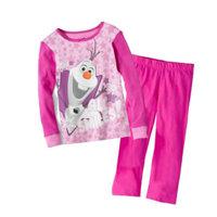 2014 New Design Suit movie  costume Girls  Pajamas Baby Olaf Pijamas Pyjamas Children Clothing sets Kids Sleepwears