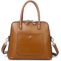 2015 new Genuine leather handbags, wax urban white portable shoulder, Messenger bag