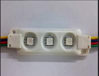 20PCS/string 5050 RGB LED module;high bright;0.72W;IP65;DC12V;injection molding type;75mm*20mm