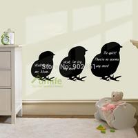 Funlife New Three CHICKABIDDY Chicken Vinyl Writable Message Chalkboard Blackboard Wall Sticker Decal for Children ichalk1017