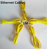 1 pc 1M CAT5E CAT5 RJ45 Ethernet Internet Network Patch Lan Cable Cord Yellow HY312