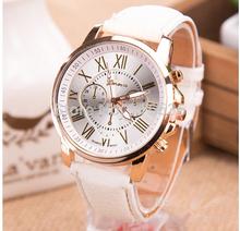 NEW Geneva Platinum Watch Women PU Leather wristwatch casual dress watch reloj ladies relogio gift Analog