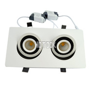 Double Lights 10W LED lighting COB chip downlight Recessed LED Ceiling light Spot Light Lamp White/ warm white led lamp CE RoHS