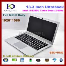 Newest 13.3″ Core i5-4200U laptop notebook,8GB RAM +128GB SSD,1920*1080,WIFI,Bluetooth,Metal case,6600mAh,windows 8