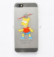 For iphone5 5s cases Transparent Cute Simpson Bert Simpson cell phone cases