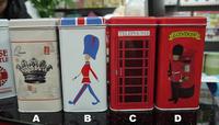 free shipping 2015 new London souvenirs UK tea box candy box metal storage box bins