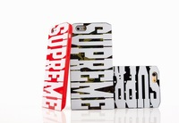 Fashion style 3D big letters supreme ultra-thin soft TPU cover case for iPhone 6 super cool high quality  free shipping