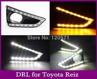 2 Pcs/set New Arrival Led Daytime Running Light, Led DRL For Toyota Reiz (13-14) Car For Light With Turn Signal Light