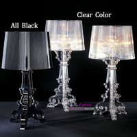 11 Free Shipping All The World Modern Design Clear/All Black/Transparent Black Kart Bourgie Beside Table Lamp Desk Light