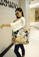 2015 RAXH Fashion Character Canvas bag women bag Hot Sale single-shoulder bag