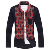 Men Corduroy Shirt Fashion New Casual Slim Plus Size Shirts 5XL 4XL 3XL For Man Dress Shirt