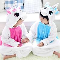 Lovely Robe Kids Flannel Pyjama winter Pajamas Anime Sleepwear Costume Boys Nightgown Girls Onesie Animal Kids Onesies
