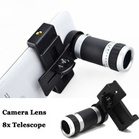 8x Zoom Optical Mobile Phone Lens Telescope Camera Telephoto Universal for iPhone 6 Plus 4S 5 5S 5C Samsung Galaxy S4 S5 Note 4