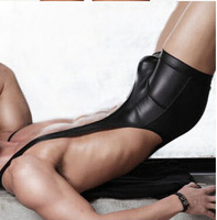 2015 HOT N2NGenuine: Free Shipping Wholesale and retail rave scene sexy fashion leather men's low waist Siamese underwear