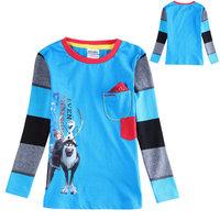 2015 New Design Casual Costume Boys Olaf & Sven T-shirt Baby 100% Cotton t-shirts Kids Printed tshirts Children Cartoon Clothing