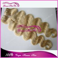 Top 7A Grade 3pcs/lot blond #613 body wave bundles virgin brazilian human hair weaves for white women free shipping