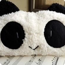 New 2014 Panda Soft Plush Pencil Case Pen Pocket Cosmetic Makeup Zipper Bag Pouc