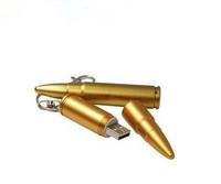 Free shipping 4GB 8GB U-disk memory Stick Pendrive Gold Silver Metal bullets model Enough USB Flash DRIVE