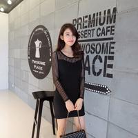 2015 cheap clothes china spring summer clothing ladies tops long sleeve gauze bottoming tshirt women shirt blusas femininas