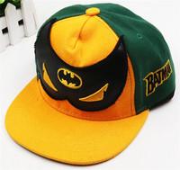 Fashion hot sale batman flat brim snapback adjustable baseball cap