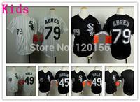 Kids Youth Chicago White Sox #79 Jose Abreu Baseball Jerseys #45 Michael Jordan Youth #79 Chris Sale Baseball Jersey Size:S-XL
