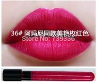 36 #Glamorous red rose lip gloss Matte velvet matte lip gloss glaze 1-36 purple color nude color lipstick stick Cup