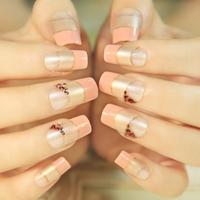Genteel skin pink false nails art decoration,woman false nails manicure art ornament display,4.20806.Free shipping