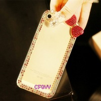 Luxury 3D Bow Bling Crystal Diamond Case Cover For iPhone 5 5S