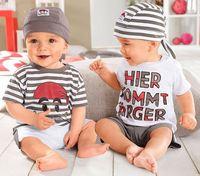 cut baby leisure sets baby boy's cartoon 3 pcs set hat+t-shirt+shorts boys summer clothing XMZ045