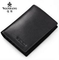2015 New Brand Wallet Men Popular Genuine leather Luxury men wallet Fashion black/Khaki wallet MB29A free shipping