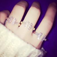 Korean super delicate created diamond ring T
