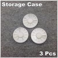 3 Piece White Plastic Empty Wheel Box Case For Nail Art Gems Rhinestones Storage Case + Free Shipping (NR-WS86)