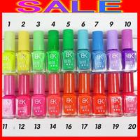 ems DHL576pieces / lot Free Shipping Brand New 20 Colors Luminous 7ml Fluorescent Neon Nail Art Polish Glow In Dark Nail Varnish
