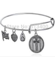 Vnistar 10pcs/lot America hot Alex and ani bangles & bracelets for women with cross shamrock leaf charm VAB181