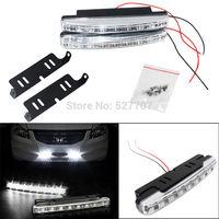 Free shipping 2x Car Vehicles 8LED Daytime Running Light DRL Kit Fog Lamp Day Driving Daylight