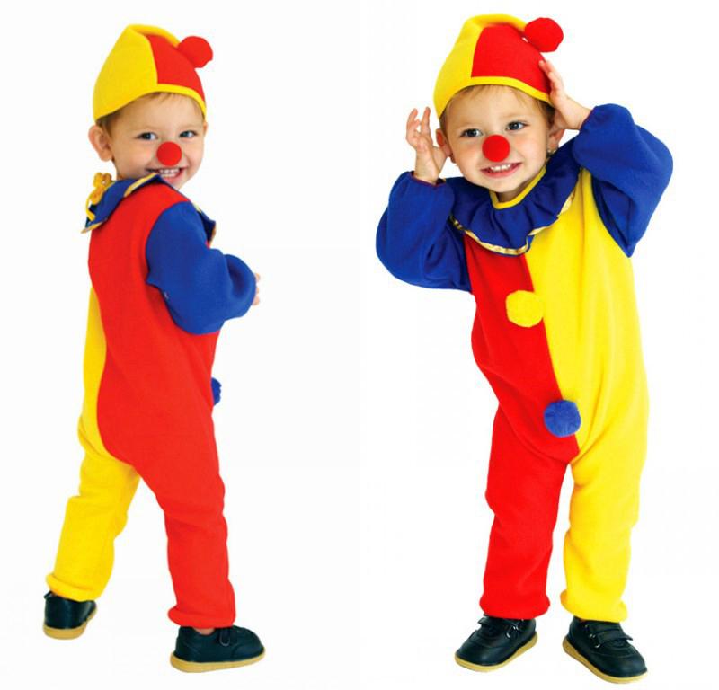 jumpsuits hat nose fit 3 9 year children clown suit cute baby