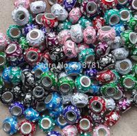 14*9mm mixed alloy murano beads black,purple,red green loose chunky murano beads lampwork murano beads halloween/christmas gift!