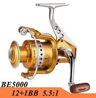 2015 New 12+1BB 5000 Series Metal Spinning Fishing Reel Fish Wheel Saltwater Carretilha Pesca For Shimano Fishing Free Shipping