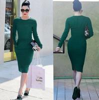 Sexy Long Sleeves  Sheath Dress 2015 New Fashion S,M,L,XL,XXL   TPS061