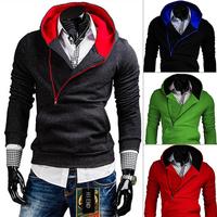2015  Autumn  Men Fashion  Hoodies Mens Sports Casual Outerwear  Men's zipper  colorful jackets 4Colors M-XXLPW68